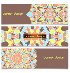 abstract geometric header background vector image