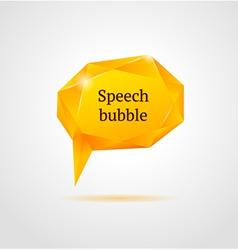 Abstract orange shiny geometric speech bubble vector image