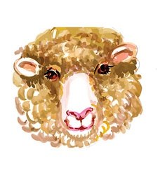 Artistic sheep design vector