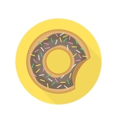 Caramel donut icon vector image