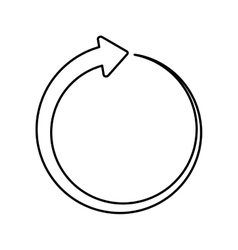 Circle of an arrow icon Direction design vector image