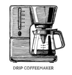 coffee machine vector image vector image