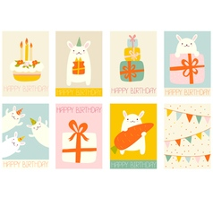 Collection of birthday banner vector image