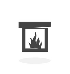 Fireplace icon logo on white background vector