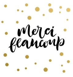 French calligraphic print vector image vector image