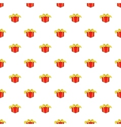 Gift in box pattern cartoon style vector