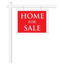 House for sale sign vector image vector image