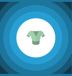 isolated blouse flat icon casual element vector image vector image
