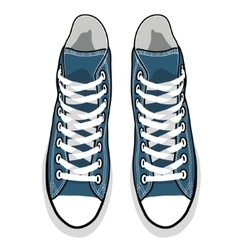 isolated cartoon blue sneakers vector image vector image