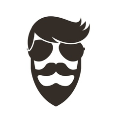 man character style hipster vector image vector image