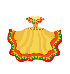 Mexican dress icon flat style traditional vector