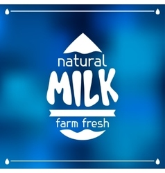 Milk emblem design on abstract mesh background vector image