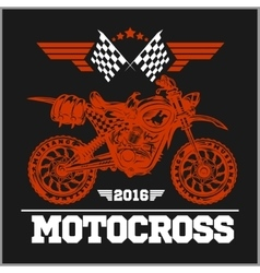 Motocross tournament emblem vector