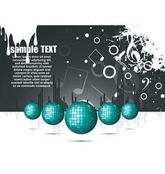 Musical theme with disco balls vector