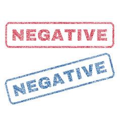 Negative textile stamps vector
