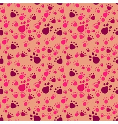 Pet paws imprints Abstract seamless pattern vector image vector image