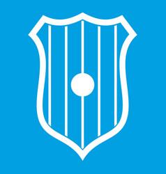 Protective shield icon white vector