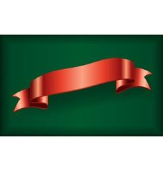 Red ribbon satin bow blank green vector image vector image