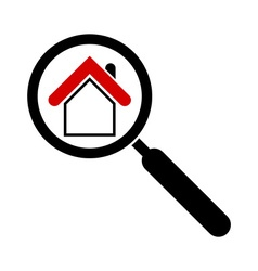 Search house icon magnifier real estate icon vector
