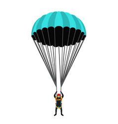 Skydiving school academy set parachute pack vector