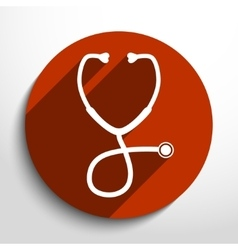 Stethoscope web icon vector