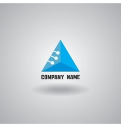 Technology logo computer and data related vector