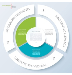 Template for business presentation with 3 segments vector