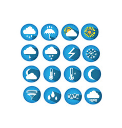 Weather round web icons for websites vector