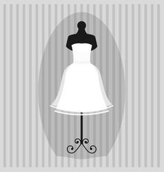 wedding bride dress elegance style celebration vector image vector image