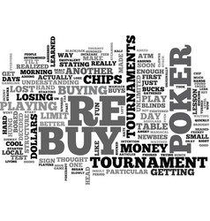 Why i hate poker re buy tournaments text word vector