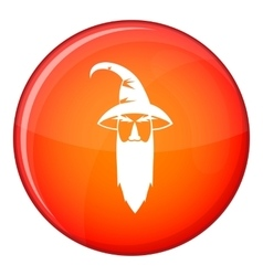 Wizard icon flat style vector
