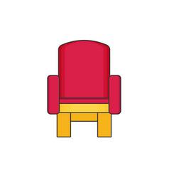 Armchair flat vector