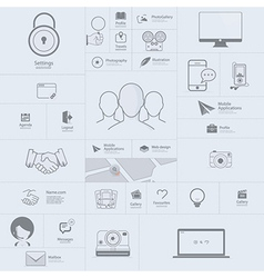 Communication web design elements vector image