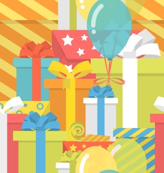Birthday pattern with gifts vector