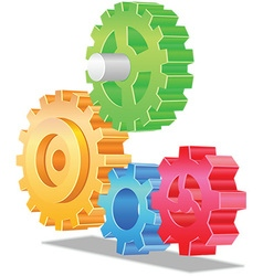 3d cogs icon vector image