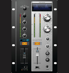 Recording studio controls vector