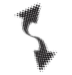 Abstract halftone arrow vector