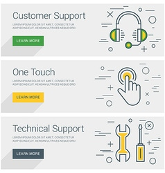Customer support one touch technical support line vector