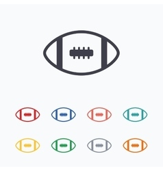 American football sign icon team sport game vector