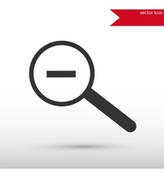 Magnifying glass black icon and jpg flat vector