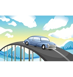 A car at the road vector image