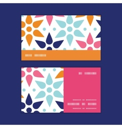 Abstract colorful stars horizontal stripe vector