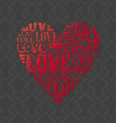 abstract valentines heart vector image vector image