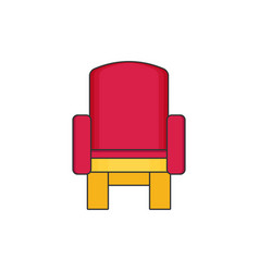 armchair flat vector image vector image