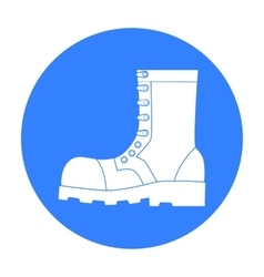 Army combat boots icon in black style isolated on vector image