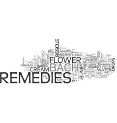 Bach flower remedies to the rescue text word vector