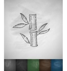 bamboo icon Hand drawn vector image