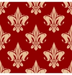 Beige and maroon royal floral pattern vector