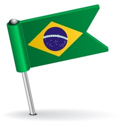 Brazilian pin icon flag vector