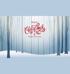 Christmas and happy new year typography xmas vector